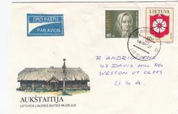 LITHUANIA Post Cover From Druskininkai To USA 1995 #25701 - Litauen