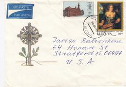 LITHUANIA Post Cover From Druskininkai To USA 1995 #25702 - Litauen