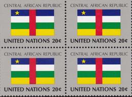 NATIONS UNIES, CENTRAL AFRICAN REPUBLIC, Drapeau, Bloc De 4, Belle Gomme - Altri