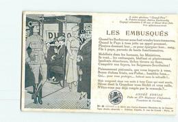 Militaria - Guerre 1914/1918 - Les EMBUSQUES De André SORIAC Poilu Au 277 Régiment Infanterie- Tranchées De VERDUN - Guerra 1914-18