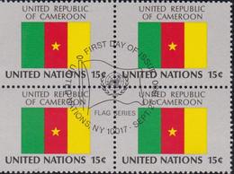 NATIONS UNIES, UNITED REPUBLIC OF CAMEROON, Drapeau, Bloc De 4, 1er Jour, 26 Sept 1980 - Altri