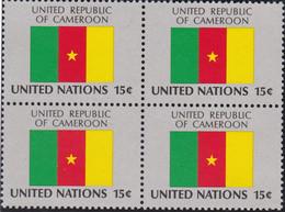 NATIONS UNIES, UNITED REPUBLIC OF CAMEROON, Drapeau, Bloc De 4, Belle Gomme - Altri