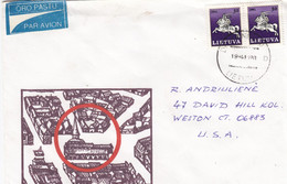 LITHUANIA Post Cover From Druskininkai To USA 1994 #25703 - Litauen