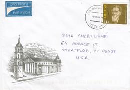 LITHUANIA Post Cover From Druskininkai To USA 1996 #25704 - Litauen