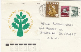 LITHUANIA Post Cover From Vilnius To USA 1996 #25705 - Litauen