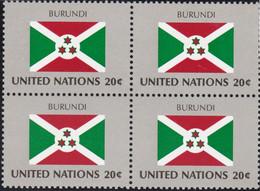 NATIONS UNIES,BURUNDI, Drapeau, Bloc De 4, Belle Gomme - Altri