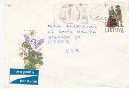 LITHUANIA Post Cover From Kaunas To USA 1995 #25706 - Litauen