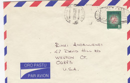 LITHUANIA Post Cover From Kaunas To USA 1995 #25707 - Litauen