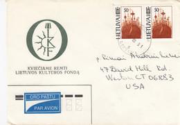 LITHUANIA Post Cover From Druskininkai To USA 1995 #25708 - Litauen