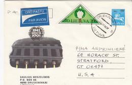 LITHUANIA Post Cover From Druskininkai To USA 1995 #25709 - Litauen