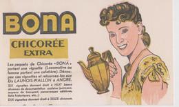 Publicité Ancienne, Chicorée Bona, Carte 17/10,5 Cm. - Reclame