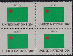 NATIONS UNIES,BENIN, Drapeau, Bloc De 4, Belle Gomme - Altri