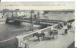 GRAU-DU-ROI    ( GARD )  LE PONT SUR LE CANAL - Le Grau-du-Roi