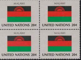 NATIONS UNIES,MALAWI, Drapeau, Bloc De 4, Belle Gomme - Altri