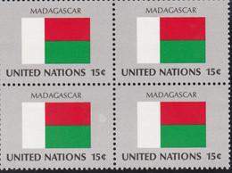 NATIONS UNIES, MADAGASCAR, Drapeau, Bloc De 4, Belle Gomme - Altri