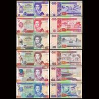 ♛ BELIZE - 2+5+10+20+50+100 Dollars 2014-2016 UNC P.66+67+68+69+70+71 - Belize