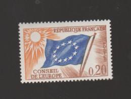 """FRANCE / 1963-1971 / Y&T SERVICE N° 27 ** : Conseil De L'Europe (20c """"drapeau"""") X 1 - Neufs"""