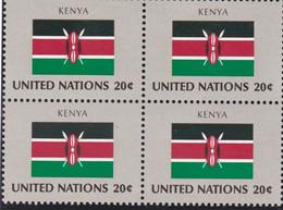 NATIONS UNIES, KENYA, Drapeau, Bloc De 4, Belle Gomme - Altri