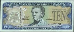 ♛ LIBERIA - 10 Dollars 2011 UNC P.27 F - Liberia