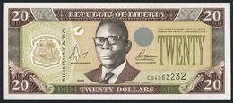 ♛ LIBERIA - 20 Dollars 2004 UNC P.28 B - Liberia