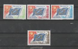 FRANCE / 1975-1976 / Y&T SERVICE N° 46/48 + 49 ** : CONSEIL (Drapeau 60c. 80c 1F20 & 1F) X 1 - Neufs