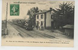 SIAUGUES SAINT ROMAIN PITTORESQUE - Gare De LA CHAUD , Ligne De SAINT GEORGES D'AURAC à SAINT ETIENNE - Sonstige Gemeinden