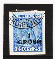 CAO357 A L B A N I E N  1914  Michl  44 Auf BRIEFSTÜCK Entwertet SIEHE ABBILDUNG - Albanie