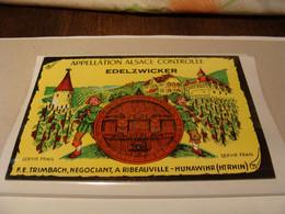 Etiquette De Vin Jamais Collée Wine Label  Weinetikett   5  Etiquettes De Alsace Edelzwicker - Other