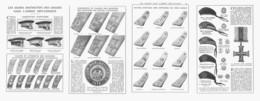 LES SIGNES DISTINCTIFS DES  GRADES De L'ARMEE BRITANNIQUE ( GUERRE 14/18 )  1915 - Militaria