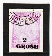 CAO358 A L B A N I E N  1914  Michl  45 Auf BRIEFSTÜCK Entwertet SIEHE ABBILDUNG - Albanie