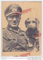 Au Plus Rapide 2 ème Guerre Mondiale Officier Et Son Chien Allemand Décoration Croix De Fer Beau Plan Beau Format - War, Military