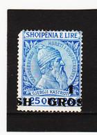 CAO361 A L B A N I E N  1914  Michl  44 AUFDRUCK VERSCHOBEN  (*) FALZ  SIEHE ABBILDUNG - Albanie