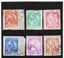 CAO362 A L B A N I E N  1913  Michl  29/34 AUF BRIEFSTÜCKE Entwertet  SIEHE ABBILDUNG - Albanie