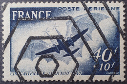 R1337/501 - 1948 - POSTE AERIENNE - ADER - N°23 Avec RARE Annulation Hexagonale (Timbre Rebut) - Curiosa: 1945-49 Afgestempeld