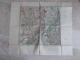 CARTE TYPE AVIATION..LYON. - Cartes Géographiques