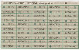 Nederland Distributie Benzine-bonnen H Oliecrisis 1973-1974 (NL) - Gebührenstempel, Impoststempel