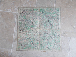 MILITARIA...CARTE TOILEE TYPE AVIATION.REIMS - Cartes Géographiques