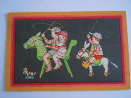 Enfants Cheval Jouet Kinderen Speelgoed Paard Jokey Circulée 1935 Edit Rokat 150 - Games & Toys