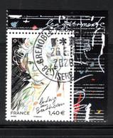 France 2020.Beethoven Issu De La Mini Feuille.cachet Rond Gomme D'Origine - Francia