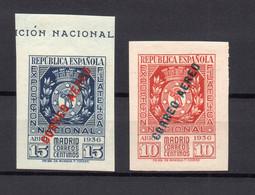 !!! PRIX FIXE : ESPAGNE, TIMBRES REPUBLICAINS, PA N°111/112 NEUFS *, FORTE COTE - 1931-50 Nuevos & Fijasellos