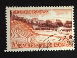 Timbre 1124 Lyon Oblitéré - Usados