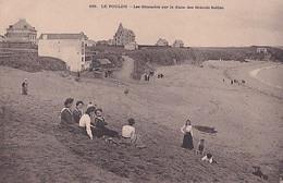 LE POULDU       LES GLISSADES SUR LA DUNE DES GRANDS SABLES  .             PRECURSEUR - Le Pouldu