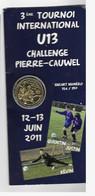 Encart Jeton Touristique AB  Challenge Pierre Cauwell 2011 - Arthus Bertrand