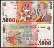 ♛ ROMANIA - 5.000 Lei 1998 UNC P.107 - Roemenië