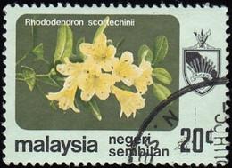 MALAYSIA Negri Sembilan - Scott #97 Rhododendron Scortechinii / Used Stamp - Malaysia (1964-...)