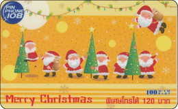 Thailand  Phonecard  Pin Phone 108  Merry Christmas Comic - Tailandia