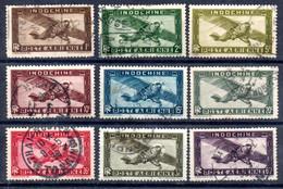 Indochine Indochina Luftpost Y&T PA 1° - PA 6°, PA 8°, PA 8A°, PA 9° - PA 15°, PA 39°, PA 42° - Airmail