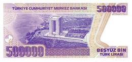 Turkey P.212 500000 Lirasi 1998 Unc - Turquie