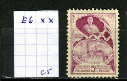 Belgique   E N°6 Xx - Commemorative Labels