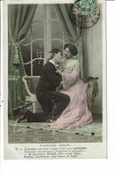 CPA Carte Postale-France -Fantaisie-Premiers Amour:L'ardeur De Mon Cœur N'est Pas éphémère,.... 1903-VM23162 - Paare